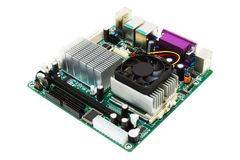 Placa madre Mini-ITX Fotografía de archivo libre de regalías