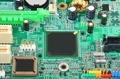 Placa madre verde del ordenador Foto de archivo libre de regalías