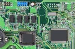 Placa madre verde del ordenador Imagen de archivo libre de regalías