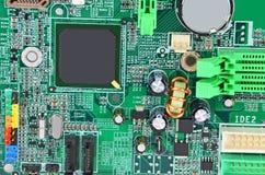 Placa madre verde del ordenador Imágenes de archivo libres de regalías