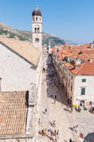 Placa, main street in Dubrovnik old town Stock Images