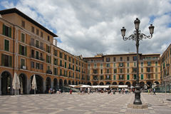 Placa Major in Palma , Mallorca , Spain Stock Photography