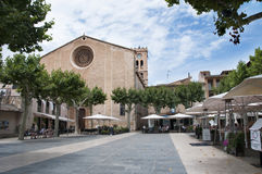 Placa Major in Old Town Pollenca Pollensa Royalty Free Stock Photo