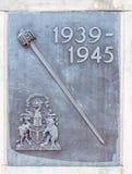 Placa memorável para a segunda guerra mundial 1939-1945 Fotografia de Stock Royalty Free