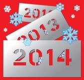 Placa metálica 2014 do ano novo Fotografia de Stock