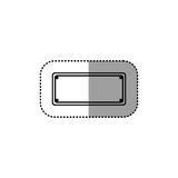 Placa metálica punteada silueta gris de la etiqueta engomada Imagen de archivo