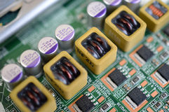 Placa micro-electrónica Imagem de Stock