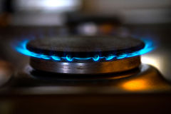 Placa moderna de la estufa de gas Foto de archivo libre de regalías