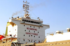 Placa não fumadores do sinal da segurança em primeiro lugar no navio de Kochi Imagens de Stock