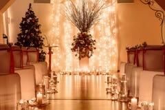 Placa na tabela do casamento Imagem de Stock Royalty Free