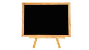 Placa natural do preto da madeira de pinho no fundo branco isolado Imagem de Stock