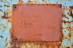 Placa oxidada Fotos de archivo