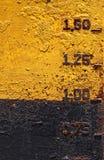 Placa oxidada del barco imágenes de archivo libres de regalías
