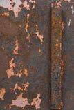 Placa oxidada del hierro Imagen de archivo libre de regalías