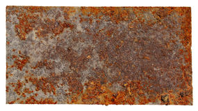 Placa oxidada do metal Imagem de Stock Royalty Free