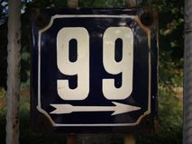 Placa oxidada do metal do quadrado do grunge do vintage do número de endereço Fotos de Stock