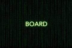 Placa, palavra-chave do scrum, em um fundo verde da matriz fotos de stock