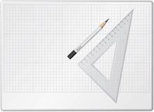 Placa para o desenho Imagens de Stock
