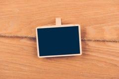 Placa pequena do quadro-negro com espaço para o texto Imagem de Stock Royalty Free