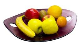 Placa por completo de frutas Fotografía de archivo libre de regalías