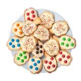 Placa por completo de galletas. Foto de archivo