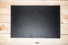 Placa preta da ardósia fotografia de stock