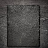 Placa preta da ardósia para servir com espaço da cópia Fotos de Stock