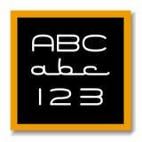 Placa preta da instrução do ABC 123 Fotografia de Stock Royalty Free