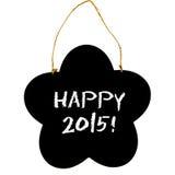 Placa preta 2015 feliz Fotografia de Stock