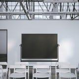 Placa preta vazia na sala de conferências moderna rendição 3d Imagem de Stock
