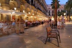 Placa Reial,巴塞罗那,西班牙 库存照片