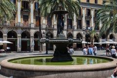 Placa Reial Βαρκελώνη Ισπανία Στοκ φωτογραφίες με δικαίωμα ελεύθερης χρήσης