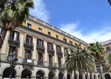 Placa Reial, Βαρκελώνη, Ισπανία Στοκ εικόνα με δικαίωμα ελεύθερης χρήσης