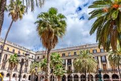 Placa Reial στη Βαρκελώνη Στοκ Εικόνες