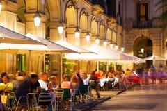 Placa Reial στη νύχτα Βαρκελώνη Στοκ φωτογραφία με δικαίωμα ελεύθερης χρήσης