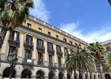 Placa Reial, Barcelona, España Imagen de archivo libre de regalías