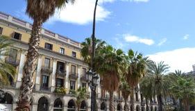 Placa Reial, Barcelona España Foto de archivo libre de regalías
