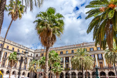 Placa Reial in Barcelona Stock Photo