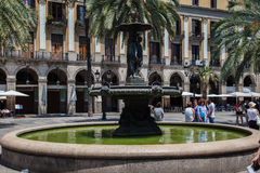 Placa Reial Barcelona Spain Royalty Free Stock Photos