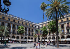 Placa Reial Barcelona Spain Royalty Free Stock Image
