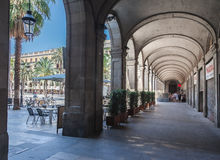 Placa Reial Barcelona Spain Stock Photos