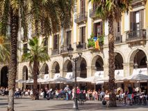 Placa Reial - Barcelone photo libre de droits