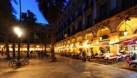 Placa Reial in  evening. Barcelona Royalty Free Stock Photos