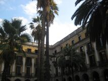 placa-reial-palms Stock Photos