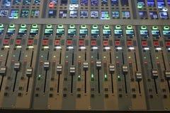 Placa sadia de Digitas usada para misturar o áudio imagem de stock