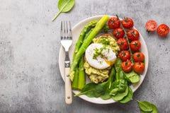 Placa saudável da refeição do vegetariano fotografia de stock