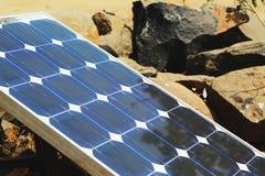 Placa solar en la luz del sol foto de archivo libre de regalías