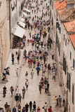 Placa Stradum in Dubrovnik Stock Photo