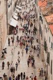 Placa Stradum em Dubrovnik Foto de Stock