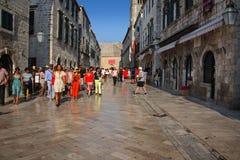 Placa Stradun. The main street in Dubrovnik, placa Stradun Royalty Free Stock Photos